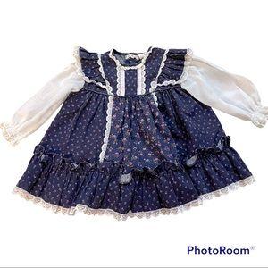 Vintage Bryan lace ruffle floral dress 18 months